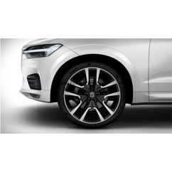 "XC60 II - 22"" Double Spoke Matt Black Diamond Cut - Komplett nyári kerék szett - Pirelli"