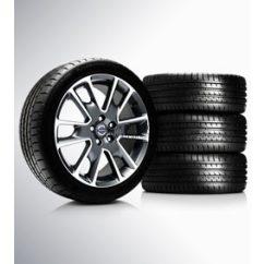 S60/V60/V70 Freja Diamond cut/Dark Grey matt 8x18 komplett nyárigumi szett