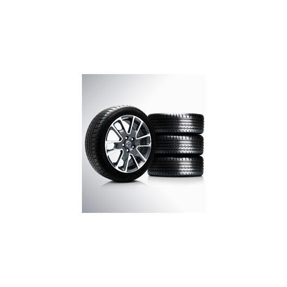 V40 Freja Diamond cut/Dark grey matt 7x17 komplett nyárigumi szett