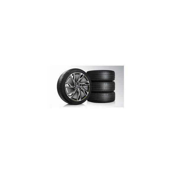 V40 Ailos Diamond cut/Dark grey matt, Lime 7,5x18 komplett nyárigumi szett