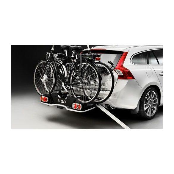 Vonóhorogra szerelhető elektromos kerékpártartó