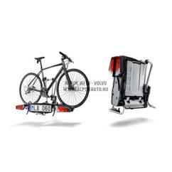 Vonóhorogra szerelhető helytakarékos 2-es kerékpártartó