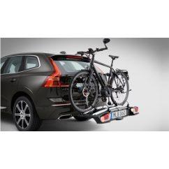 Vonóhorogra szerelhető 2-es kerékpártartó kifejezetten elektromos kerékpárokhoz