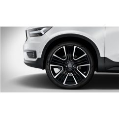 "XC40 - 21"" Triple Open Spoke Black Diamond Cut - komplett nyári kerék szett"