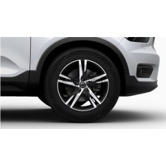 "XC40 - 18"" Double Spoke Matt Black Diamond Cut - komplett téli kerék szett - Continental"